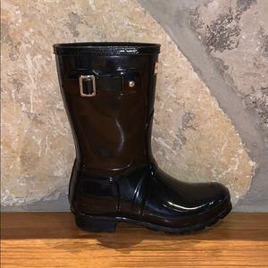 Women's Original Short Gloss Rain Boots: Black